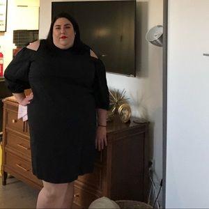 Great cold shoulder little black dress